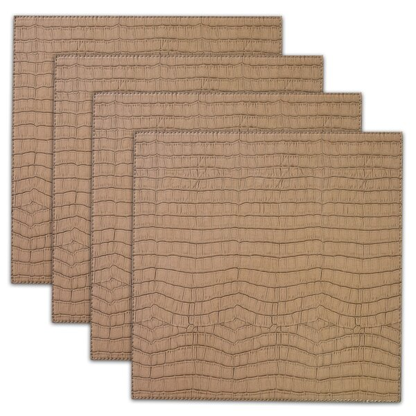 Damiana Crocodile Faux Leather Placemat (Set of 4) by Bloomsbury Market