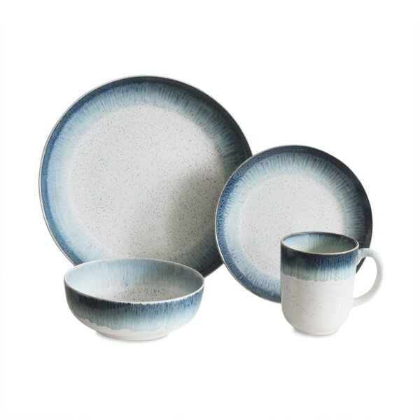Marina 16 Piece Dinnerware Set, Service for 4 by B