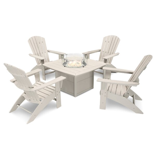 Nautical Curveback Adirondack 5-Piece Multiple Chairs Seating Group by POLYWOOD®