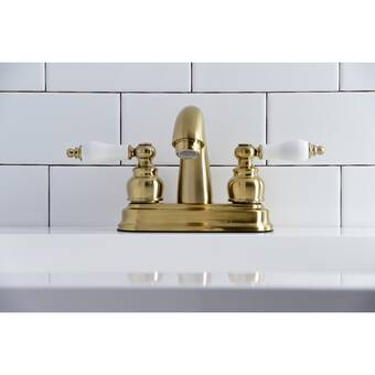 Kingston Brass FB5611NDL NuvoFusion 4 Centerset Lavatory Faucet with Retail Pop-Up 3-5//8 in Spout Reach Polished Chrome