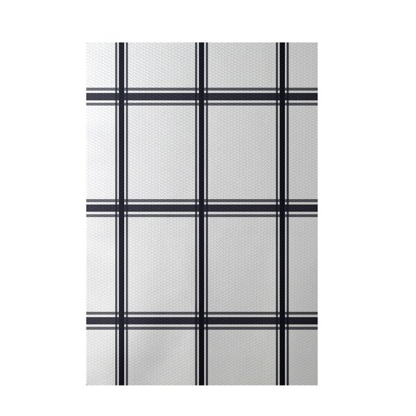 Geometric Navy Blue Indoor/Outdoor Area Rug by e by design