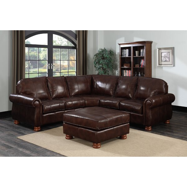 Beldale Leather Sectional with Ottoman by Darby Home Co