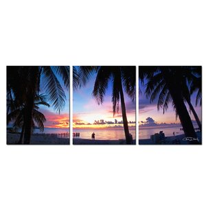 'Mex Sunset' by Christopher Doherty 3 Piece Photographic Print on Wrapped Canvas Set by Ready2hangart