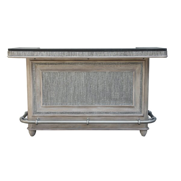 Adelina Textured Front Bar with Wine Storage by Mercer41 Mercer41