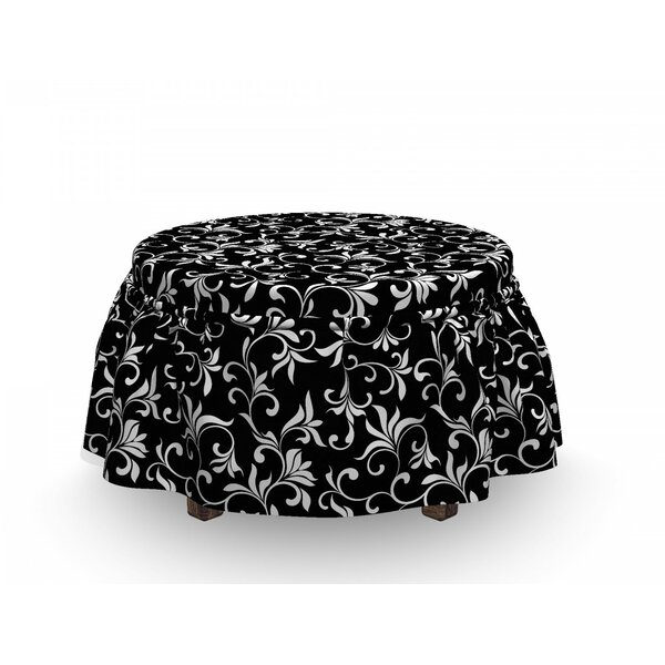 Swirls Leaves Foliage Ottoman Slipcover (Set Of 2) By East Urban Home