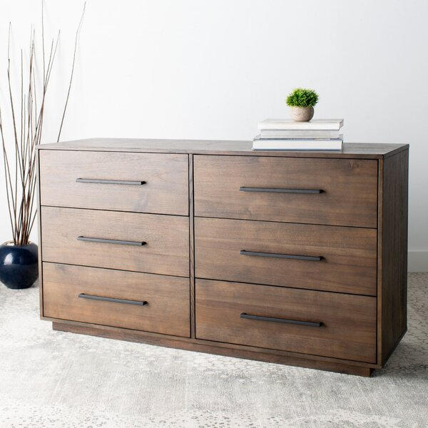 Lehman 6 Drawer Standard Dresser by Breakwater Bay