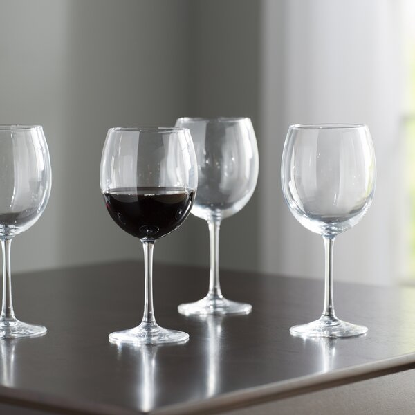 Wayfair Basics 20.5 oz. Red Wine Glass (Set of 4)