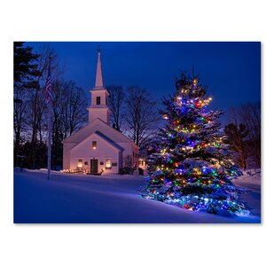 'New England Xmas' by Michael Blanchette Photographic Print on Wrapped Canvas by Trademark Fine Art