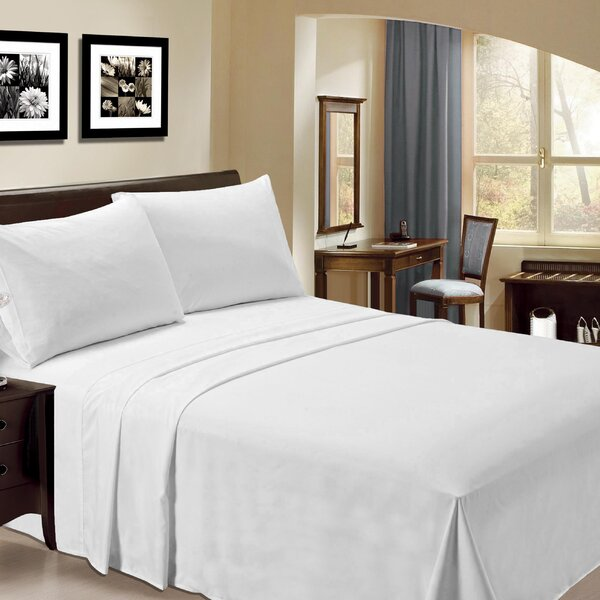 Bamboo Cripe Rayon Egyptian-Quality Cotton 6 Piece Sheet Set by Wrought Studio