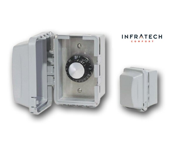 INF Surface Mount Waterproof Control Thermostat by Infratech