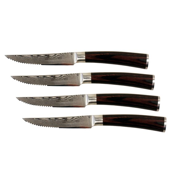 Damascus Steak Knife Set (Set of 4) by Zhen