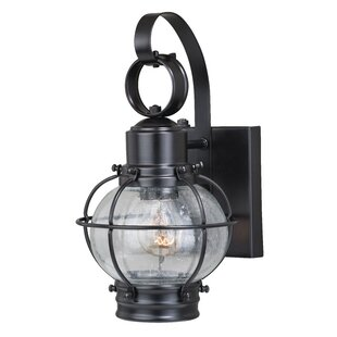 Coupon Sanibel 1-Light Outdoor Wall Lantern By Breakwater Bay