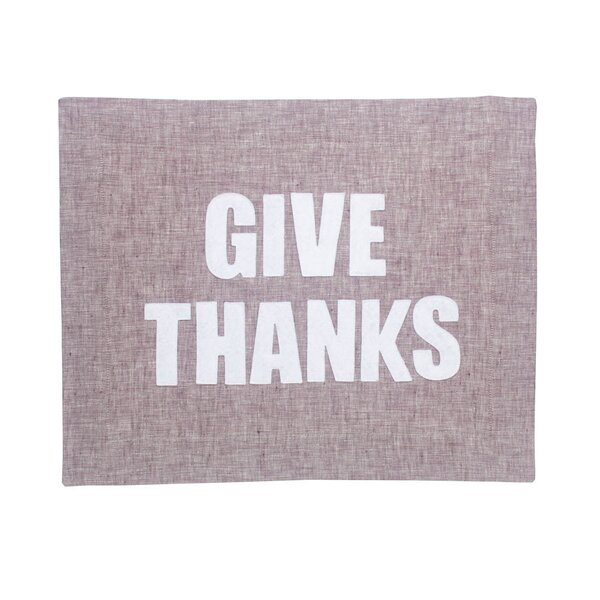 Give Thanks Placemat by Alexandra Ferguson