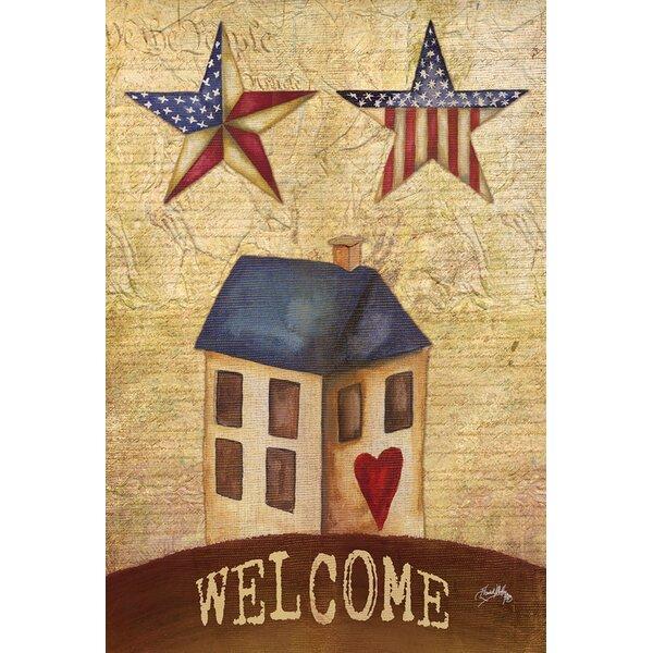American Stars Welcome Garden flag by Toland Home Garden