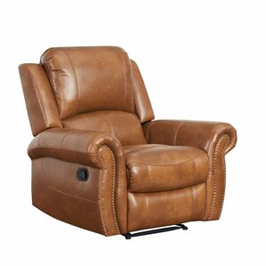 Bitter Root Leather Recliner by Darby Home Co