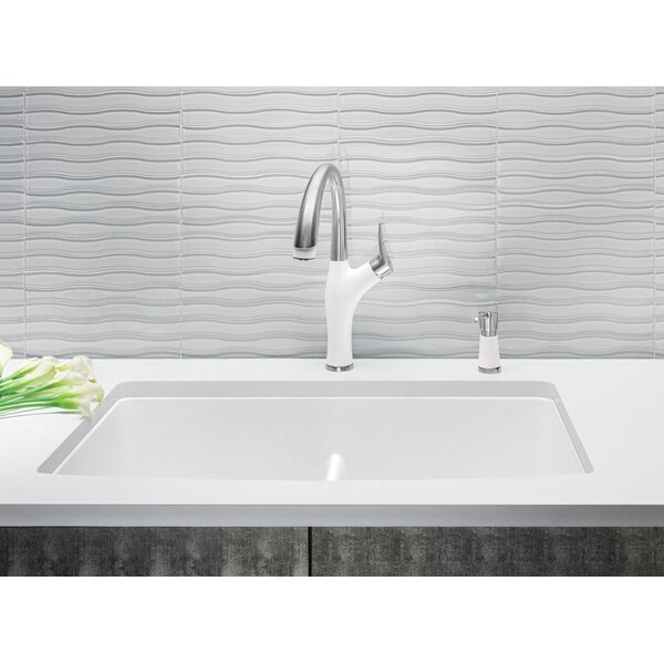 Diamond 32 L x 19.25 W Equal Double Low Divide Undermount Kitchen Sink by Blanco