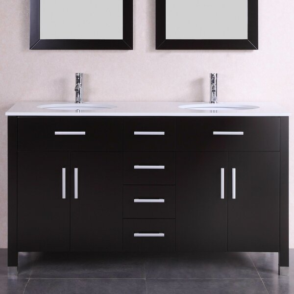 "60"" Double Modern Bathroom Vanity Set by Belvedere Bath"