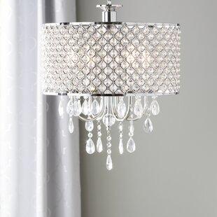 Aurore 4 Light Led Crystal Chandelier