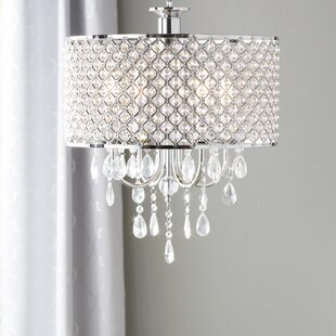 Drum chandeliers youll love wayfair aurore 4 light led drum chandelier aloadofball Gallery