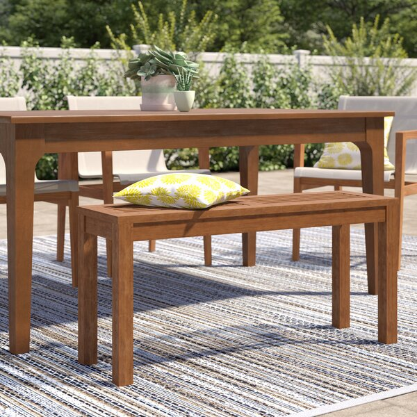 Arianna Wooden Picnic Bench by Langley Street