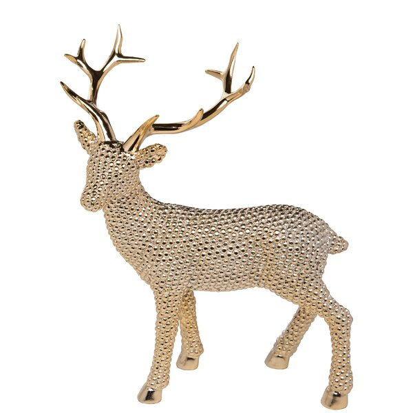 Desmond Large Resin Shiny Reindeer Right Facing by The Holiday Aisle