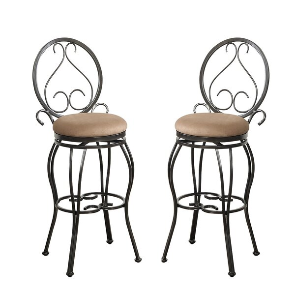 Bobkona Oswell 29 Swivel Bar Stool (Set of 2) by Poundex