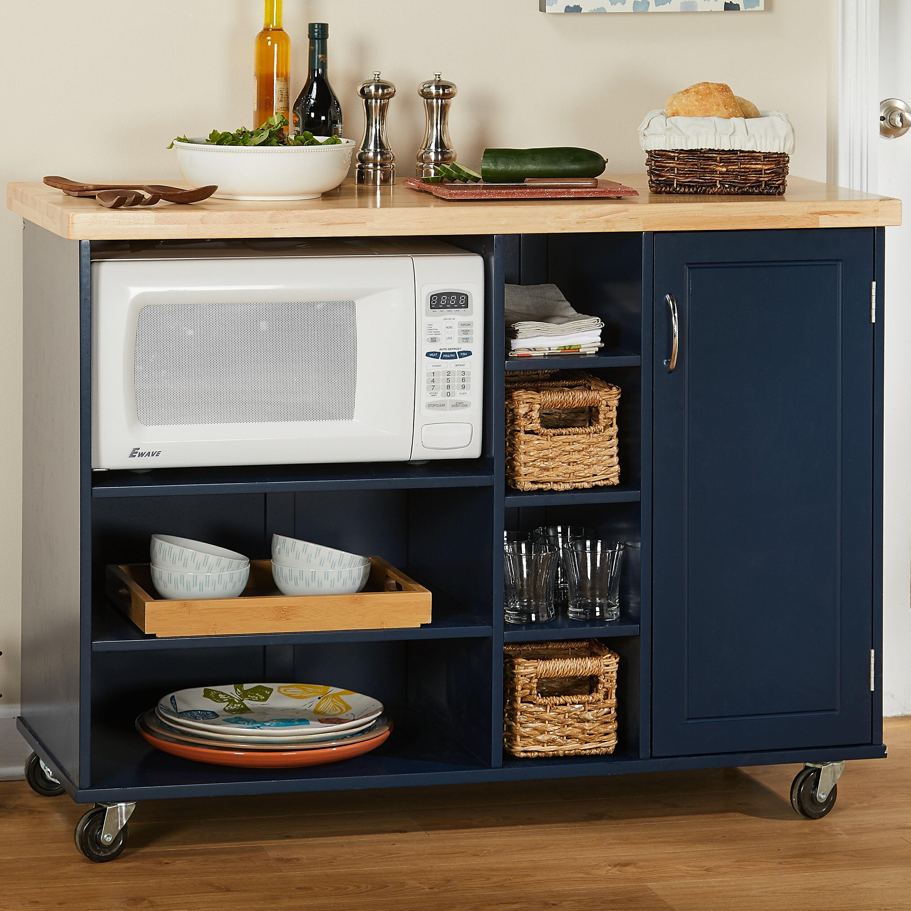 Ebern Designs Drolet Kitchen Cart Solid