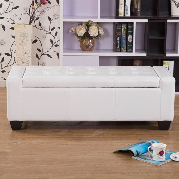 Mackenzie Faux Leather Storage Bench By Orren Ellis by Orren Ellis Today Only Sale