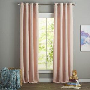 Tamara Solid Blackout Thermal Grommet Curtain Panels (Set Of 2)