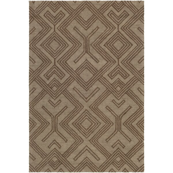 Litwin Hand-Tufted Chocolate/Brown Area Rug by Union Rustic