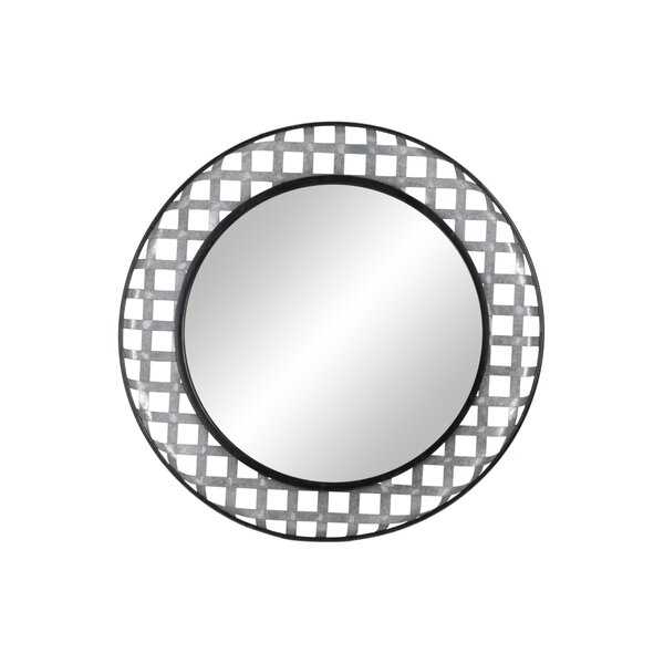 Rosena Metal Round Wall Mounted Mirror by Gracie Oaks