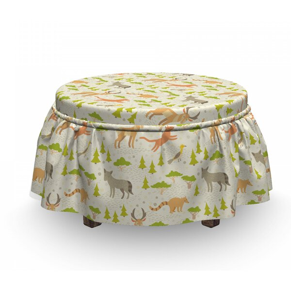 Forest Animals Kids Ottoman Slipcover (Set Of 2) By East Urban Home