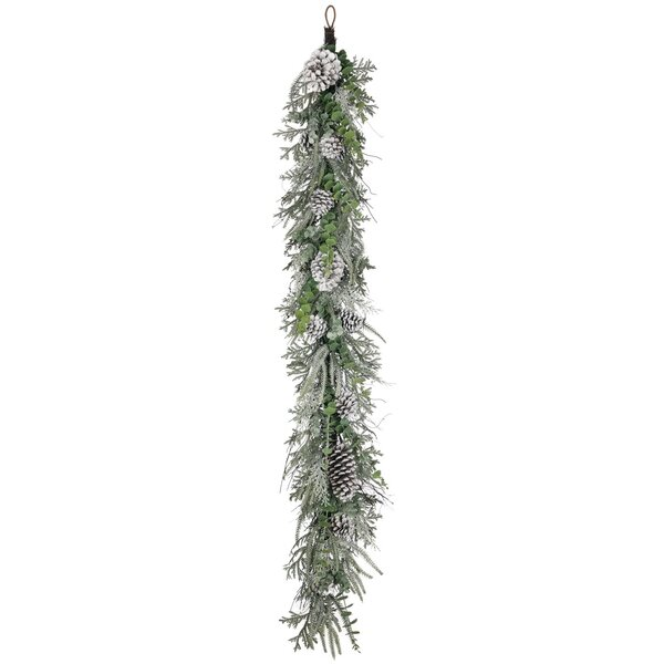 Flocked Pine, Foliage, and Cone Garland by Millwood Pines