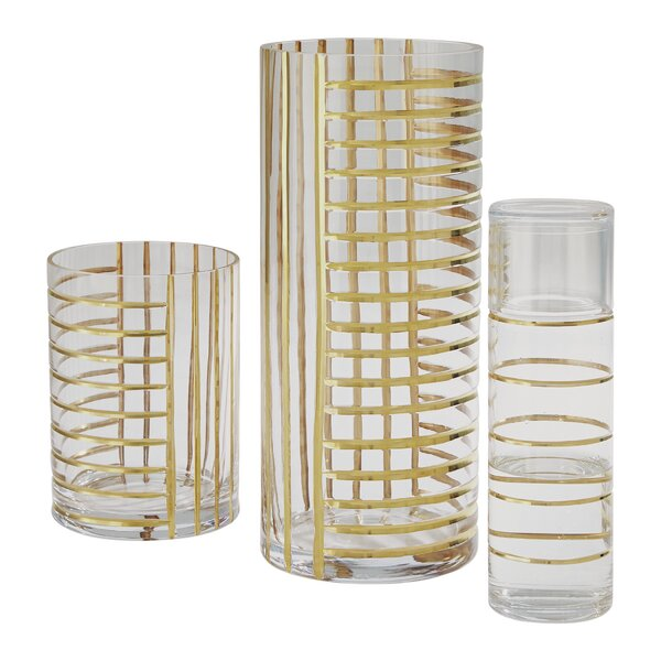 Glass Grid Carafe by Global Views