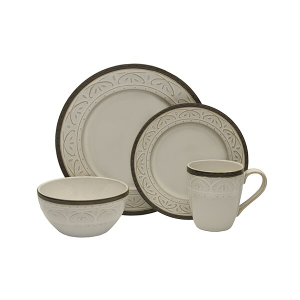 Promenade Scroll 16 Piece Dinnerware Set, Service for 4 by Pfaltzgraff