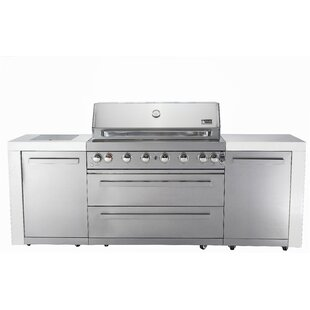 8 Burner Built In Convertible Gas Grill With Cabinet