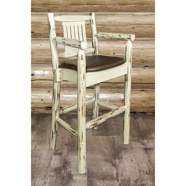 Abordale 30 Wood Legs Bar Stool by Loon Peak