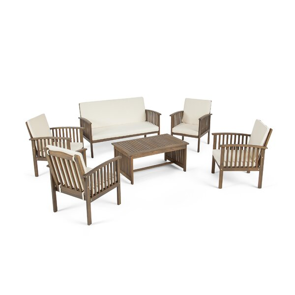 Safira 6 Piece Sofa Seating Group with Cushions by Beachcrest Home