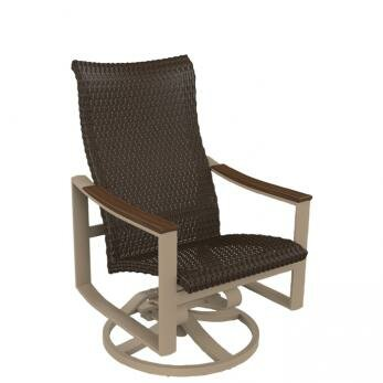 Brazo Woven High Back Swivel Rocking Chair by Tropitone