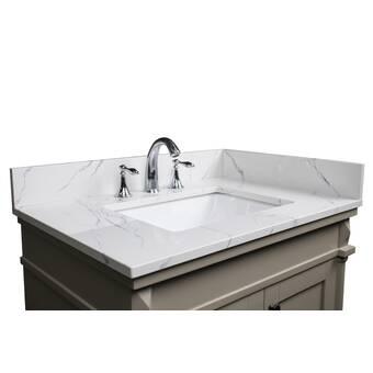 Wrought Studio Kemmel Ceramic 30 Single Bathroom Vanity Top Wayfair