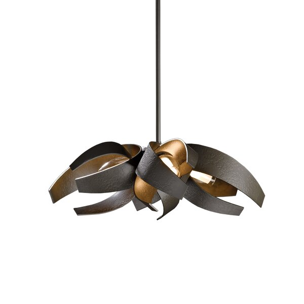 Corona 4-Light Unique / Statement Geometric Chandelier By Hubbardton Forge