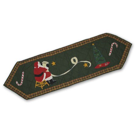 Santa By The Fireside Table Runner by Patch Magic
