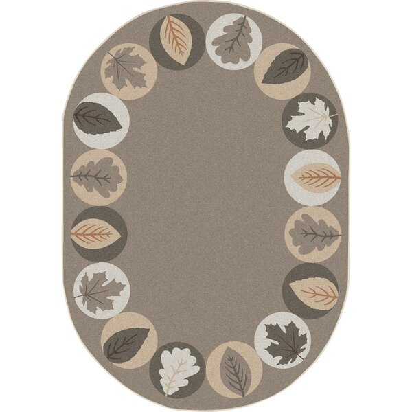 Almira Lively Leaves Brown Area Rug by Zoomie Kids