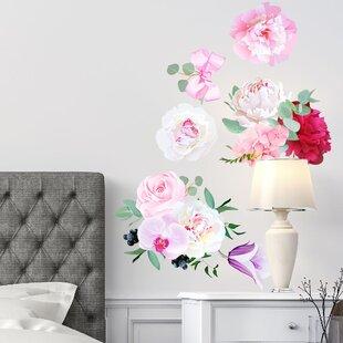 Peony Flowers Seasonal Bouquet Wall Decal