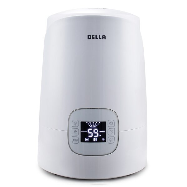 Cool and Warm 1.19 Gal. Ultrasonic Tabletop Humidifier by Della
