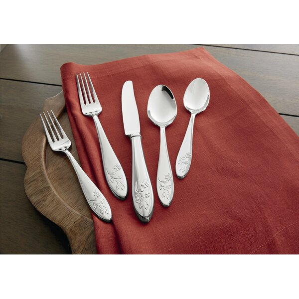 Butterfly Meadow 5 Piece 18/10 Stainless steel Flatware Set by Lenox