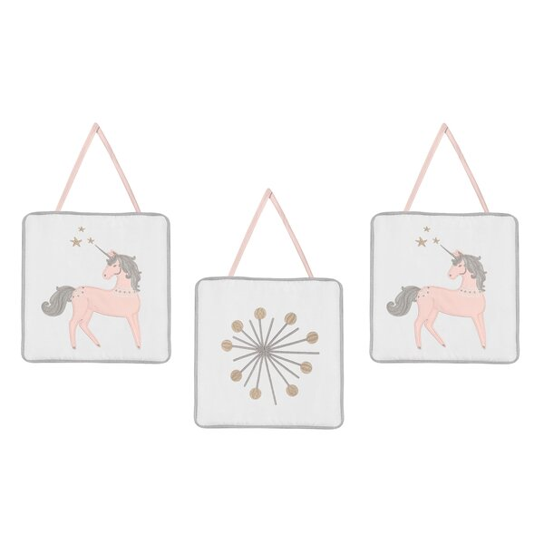 Unicorn 3 Piece Wall Hanging Set by Sweet Jojo Designs