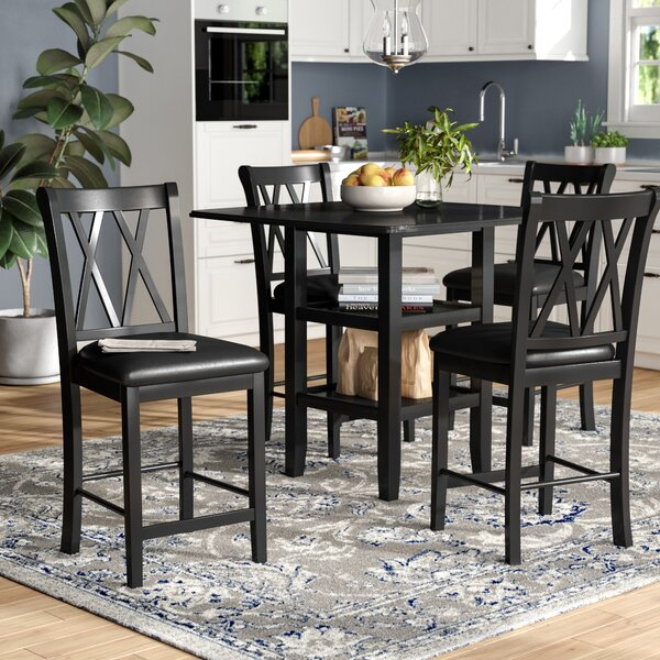 Wanette 5 Piece Counter Height Dining Set by Gracie Oaks