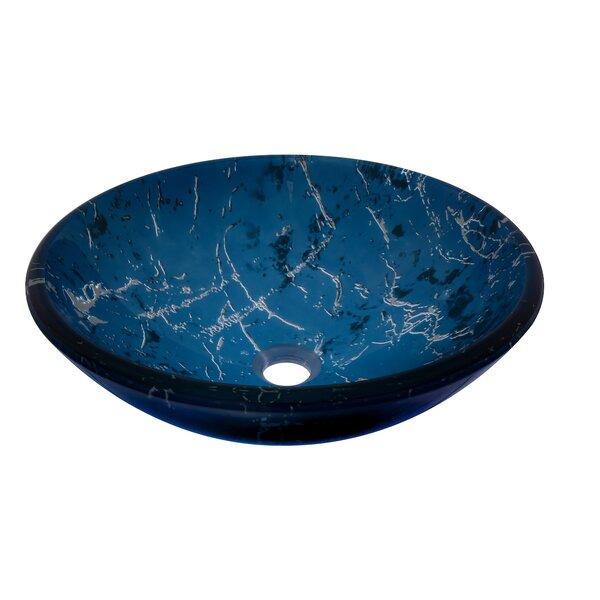 Marmo Glass Circular Vessel Bathroom Sink by Novatto