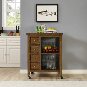 Ordway Kitchen Cart by Loon Peak Sale